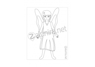 Colouring-in sheets - Elanie the Fairy